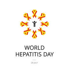 World hepatitis day vector
