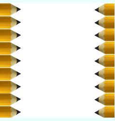 Yellow pencils border vector