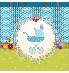 Baby Pram Card vector image vector image