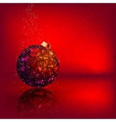 Christmas card with stars christmas ball eps 8 vector