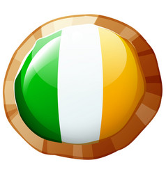 flag of ireland in round frame vector image vector image