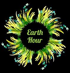 Green Floral Summer Background vector image