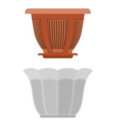Pot for flowerpot flower vector image vector image