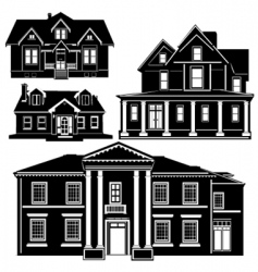 residences vector image vector image