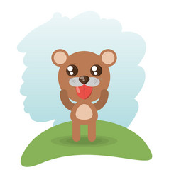 cute bear animal wildlife vector image vector image