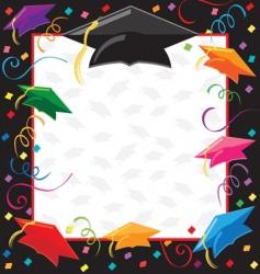 graduation party invitation vector image vector image