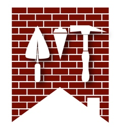 House construction symbol vector image vector image