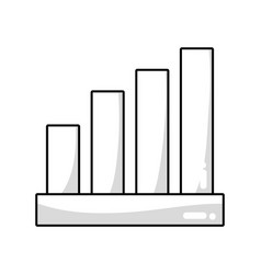 Line statistic bar to financial graphics business vector