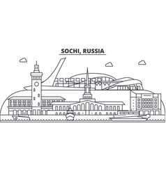 russia sochi architecture line skyline vector image vector image