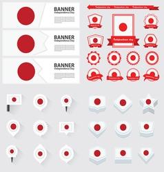 SET japan vector image vector image