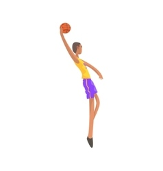 Very Tall Basketball Player Action Sticker vector image vector image