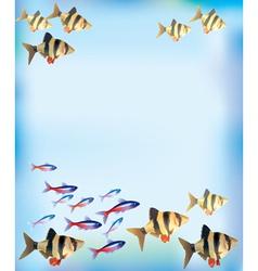 Aquarium background vector