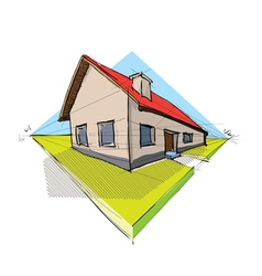Architectural house vector image