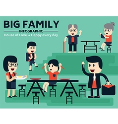 big family infographic vector image