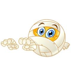 mummy emoticon vector image