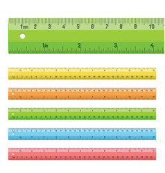 rulers in centimeters inches vector image