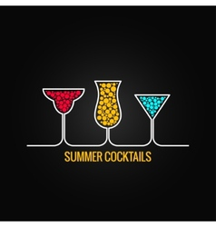 summer cocktails menu background vector image vector image