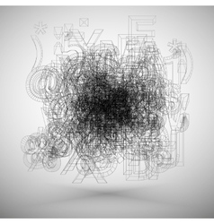 Tag cloud Grunge banner background Abstract vector image