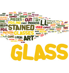 The art of stained glass text background word vector