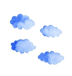 Watercolor clouds isolated on white background vector image vector image