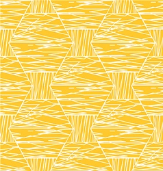 Abstract white orange linear hexagonal pattern vector image vector image
