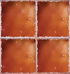Brown ceramic floor texture vector image