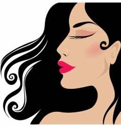 closeup woman vector image vector image