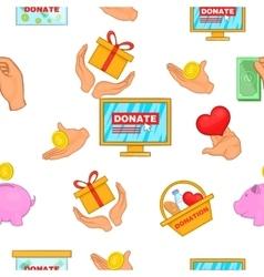 Donation pattern cartoon style vector