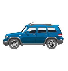 flat blue car vehicle type design sedan style vector image vector image