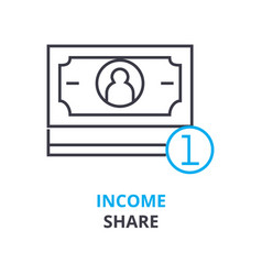 income share concept outline icon linear sign vector image
