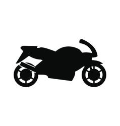 Motorcycle black simple icon vector image