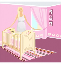 pregnant girl vector image vector image