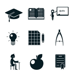School icons isolated vector image
