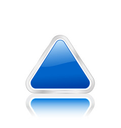 triangular icon blue vector image