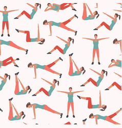 woman fitness seamless pattern vector image