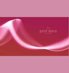 abstract red particle wave points array vector image