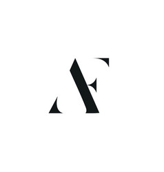 Af initial logo design logo letter logo vector