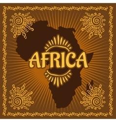 Africa - Ethnic poster vector