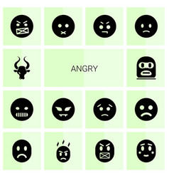 Angry icons vector