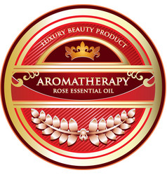 Aromatherapy rose essential oil vector