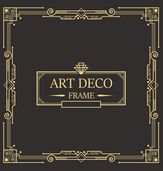 Art deco border and frame template design vector
