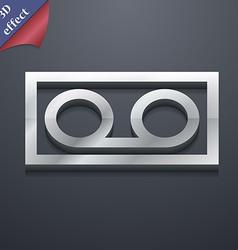 audio cassette icon symbol 3D style Trendy modern vector image