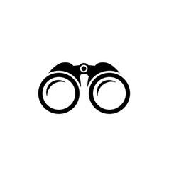 binoculars icon zoom symbol vector image
