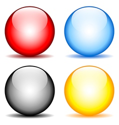 Blank buttons set vector image