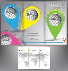 Brochure business template design eps 10 three vector