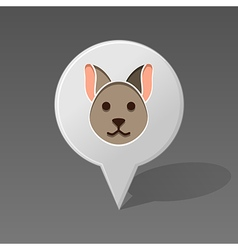 Cat pin map icon Animal head vector image