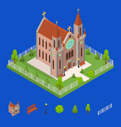 christian catholic church and elements concept 3d vector image