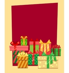 Christmas frame or greeting card template vector image
