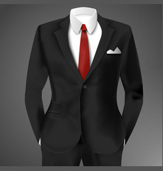 Classic male black suit vector
