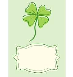 Clover retro vector